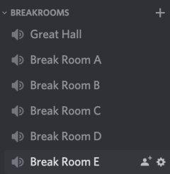 Screenshot of Discord break rooms